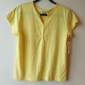 Cabela's V-Neck Cotton T-Shirt - Yellow